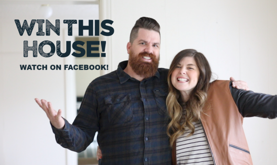 Win This House! Watch NOW on Facebook!